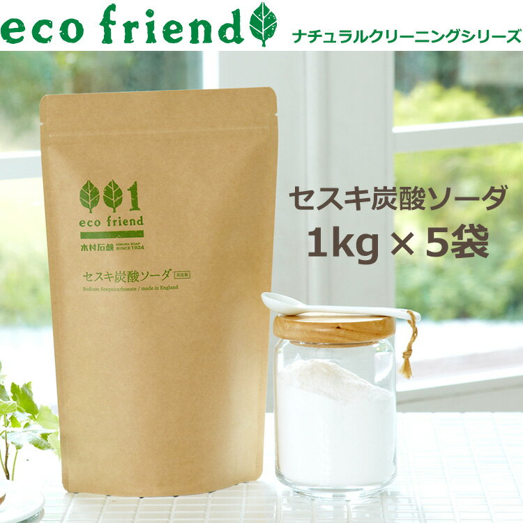 eco friend /セスキ炭酸ソーダ 5kg(1kg×5個)/掃除用 ナチュラル原料 粉末