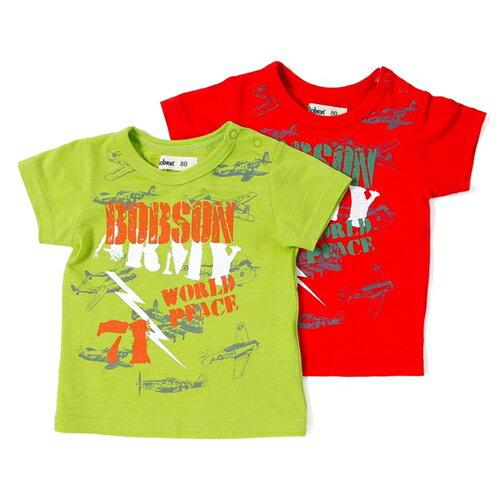 【50%OFF SALE アウトレットセール】Bobson (ボブソン) 半袖Tシャツ (80〜130cm ) 【夏物】キムラタン 子供服 あす楽