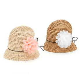 【送料無料】Bobson (ボブソン) コマ編みハット (48〜56cm) 女の子 帽子 48 50 52 54 56 ベビー キッズ キムラタン 子供服