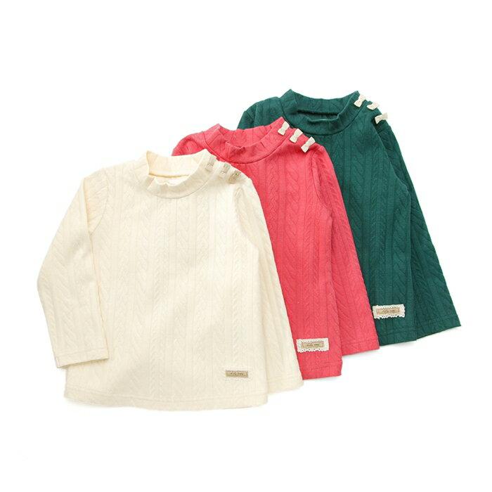 Lily ivory (リリー アイボリー ) ハイネックTシャツ (80〜130cm) 女の子 秋物 80 90 95 100 110 120 130 キムラタンの子供服