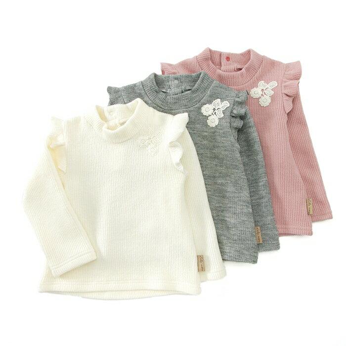Lily ivory (リリー アイボリー ) ハイネックTシャツ (80〜130cm) 女の子 冬物 80cm 90cm 95cm 100cm 110cm 120cm 130cm キムラタンの子供服