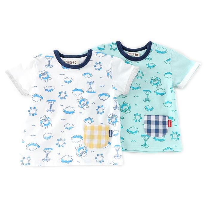 Piccolo (ピッコロ ) Tシャツ(半袖) (70〜90cm) 男の子 初夏物 70cm 80cm 90cm キムラタンの子供服