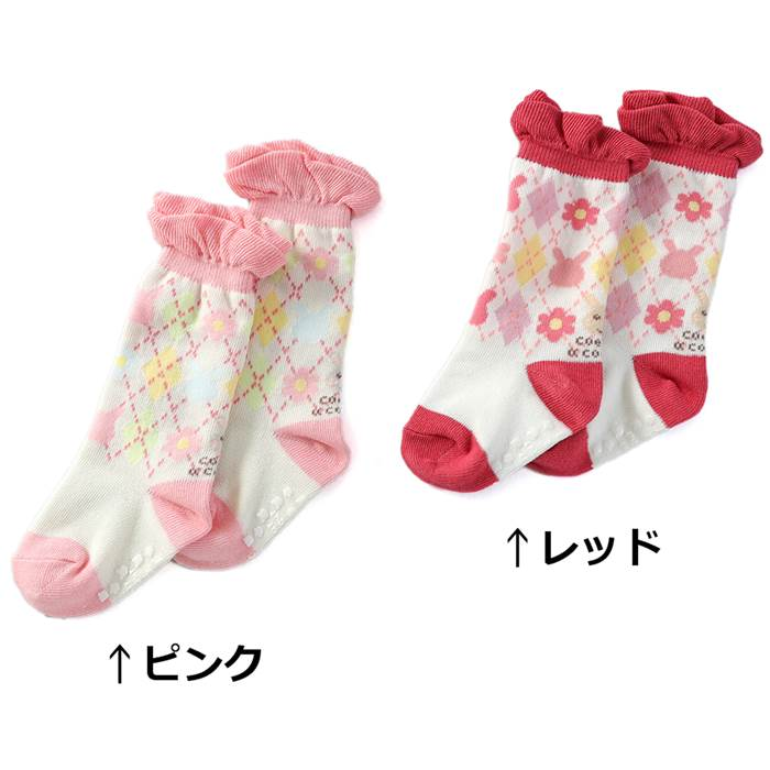 coeur a coeur (クーラクール ) ハイソックス (9〜14cm) 女の子 秋物 9〜11cm 12〜14cm キムラタンの子供服