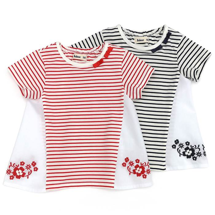 Bobson (ボブソン ) 半袖Tシャツ (80〜130cm) 女の子 初夏物 80cm 90cm 95cm 100cm 110cm 120cm 130cm キムラタン 子供服 あす楽