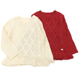 【63%OFF 均一市SALE アウトレットセール】Biquette Club (ビケットクラブ ) セーター (80〜130cm) 女の子 80cm 90cm 95cm 100cm 110cm 120cm 130cm キムラタン 子供服