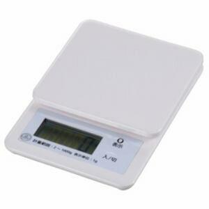 【在庫あり翌営業日発送OK A-2】COK-S100-W オーム電機 キッチンスケール (1kg計)ホワイト COKS100W