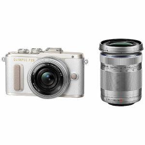 【納期約4週間】【お一人様1台限り】Olympus オリンパス EPL8-WKIT-WHT ミラーレスデジタル一眼カメラ「PEN E-PL8」EZダブルズームキット ホワイト EPL8 WKIT WHT