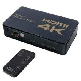 【納期約7〜10日】ミヨシ HDS4K04 HDMIセレクタ 4K対応 リモコン付属 HDS4K04