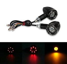 バイク用 テールランプ内蔵 砲弾型LEDウインカー/2個セット/4/送料無料