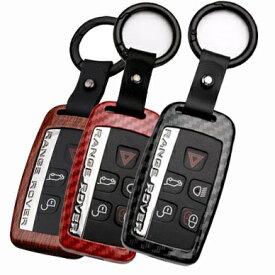 ジャガー・ランドローバー車用A カーボン調 メタル スマートキーケース キーカバー ランドローバー レンジローバー スポーツ イヴォーク ヴェラール ディスカバリー スポーツ XE XF XJ F-TYPE F-PACE E-PACE Fペース Eペース Fタイプ/送料無料