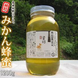 愛媛産 みかん蜂蜜1200g 【R3年産】 爽やかな蜜柑はちみつ