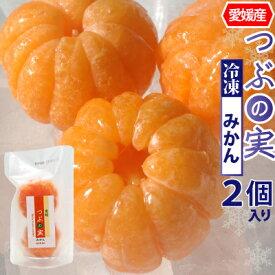 【冷凍】愛媛県産 つぶの実 冷凍みかん 丸まま2個入り