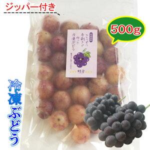 【冷凍】愛媛産 冷凍ぶどう粒楽500g 一粒ごと分かれてます。粒楽つぶらく