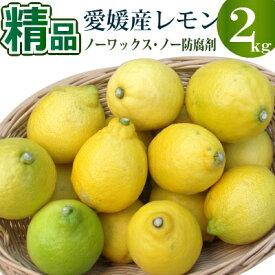 愛媛県産レモン2kg 精品 多少スリ傷などあります。【ノーワックス】【ノー防腐剤】【送料無料(北海道沖縄別途)】