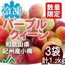 氷梅 冷凍パープルクィーン(梅酒・梅ジュース用) 400g 3袋 ☆和歌山県紀州産青梅 小梅 冷凍梅 パープルクイーン