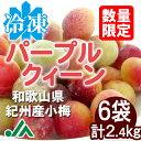 氷梅 冷凍パープルクィーン(梅酒・梅ジュース用) 2.4kg(400g×6袋) ☆和歌山県紀州産青梅 小梅 冷凍梅 パープルクイーン