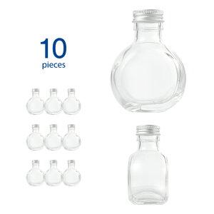 ハーバリウム 瓶 10個 サークル117ml キャップ付き 【 ハーバリウム瓶 キット 10本 ガラス容器 ガラス瓶 硝子瓶 ボトル ビン 100ml アロマディフューザー 】