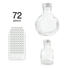 ハーバリウム 瓶 サークル117ml 72個 キャップ付き 【 ハーバリウム 瓶 材料 ガラス容器 ボトル ガラス瓶 ビン キット カートン まとめ買い 業務用 】