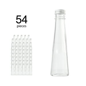 ハーバリウム 瓶 コーン 141ml 54個 キャップ付き 【 ハーバリウム 瓶 材料 ガラス容器 ボトル ガラス瓶 ビン キット カートン まとめ買い 業務用 】