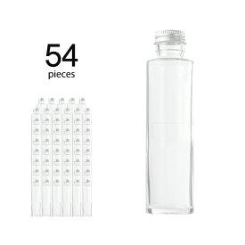 ハーバリウム 瓶 円柱 ストレート164ml 54個 キャップ付き 【 ハーバリウム 瓶 材料 ガラス容器 ボトル ガラス瓶 ビン キット カートン まとめ買い 業務用 】