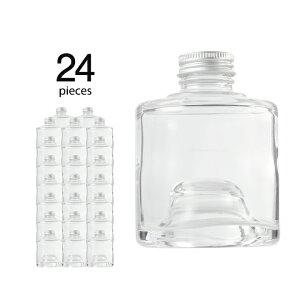 ハーバリウム 瓶 スタッグ 180ml 24個 キャップ付き 【 ハーバリウム 瓶 材料 ガラス容器 ボトル ガラス瓶 ビン キット カートン まとめ買い 業務用 】