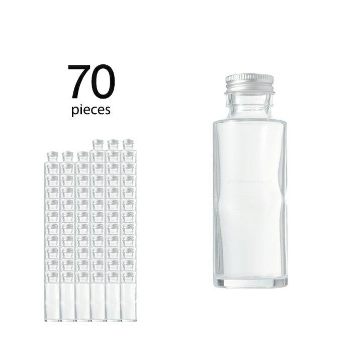 ハーバリウム 瓶 円柱 ストレート 114ml 70個 キャップ付き 【 ハーバリウム 瓶 材料 ガラス容器 ボトル ガラス瓶 ビン キット カートン まとめ買い 業務用 】