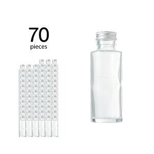 ハーバリウム 瓶 円柱 ストレート 114ml 70個 キャップ付き【 ハーバリウム 瓶 材料 ガラス容器 ボトル ガラス瓶 ビン キット カートン まとめ買い 業務用 】