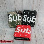 送料無料Subvert二つ折り財布ラウンドファスナーチェーン付ブランド安い
