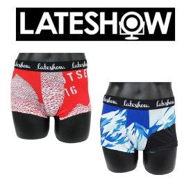 レイトショー LATESHOW ボクサーパンツ 送料無料 コラボ アンダーウェア メンズ 下着 男性 ブランド マウンテンアートワーク