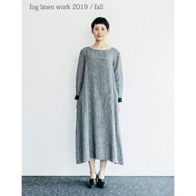 fog linen work(フォグリネンワーク) ブルネラ ワンピース 白黒千鳥格子 [LWA130-BKCHE]
