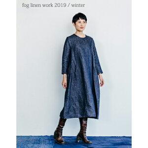 fog linen work(フォグリネンワーク) レベッカ ワンピース デニム地ネイビー [LWA173-DENINV]