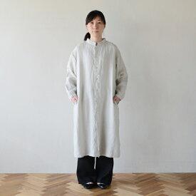 ■キナル別注■ fog linen work(フォグリネンワーク) スタンドカラーシャツワンピース アルバートル [ZKINARU640-2697]