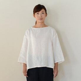 ■キナル別注■ fog linen work(フォグリネンワーク) スタンダードロングTシャツ ホワイト [ZKINARU903-19]]