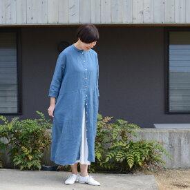 あっこたん×キナル× fog linen work あっこたんと作る理想のお洋服 うららかワンピ ターコイズ