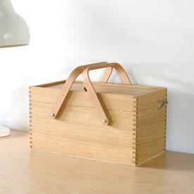倉敷意匠 栗のソーイングボックス 裁縫箱【木製 国産 日本製】