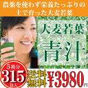 【送料無料】大麦若葉 青汁 (3g×63袋入) 5箱分 315P 緑黄色野菜を簡単摂取 代引き不可