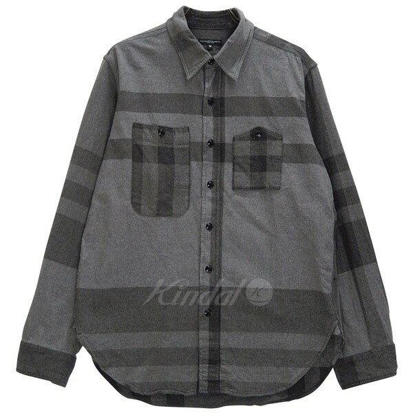 【中古】Engineered Garments Work Shirt Big Plaid 17AW ワークシャツ 山ポケ グレー サイズ:M 【送料無料】 【170118】(エンジニアードガーメンツ)