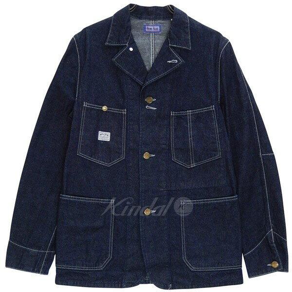【中古】BLUE BLUE デニムカバーオール ジャケット ハリウッドランチマーケット 聖林公司 インディゴ サイズ:3 【180118】(ブルーブルー)