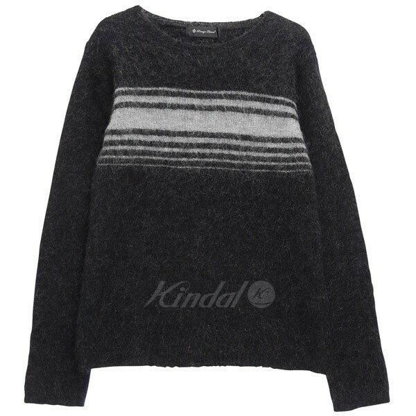 【中古】LOUNGE LIZARD モヘアニット クルーネック セーター ブラック サイズ:3 【180118】(ラウンジリザード)