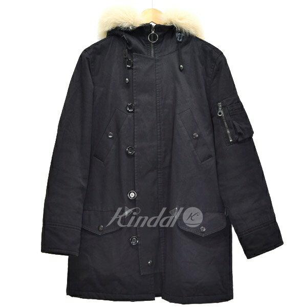 【中古】A.P.C. N-3B フォックスファー 中綿 ジャケット コート ブラック サイズ:S 【送料無料】 【080218】(アーペーセー)