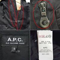 【中古】A.P.C.N-3Bフォックスファー中綿ジャケットコートブラックサイズ:S【送料無料】【080218】(アーペーセー)