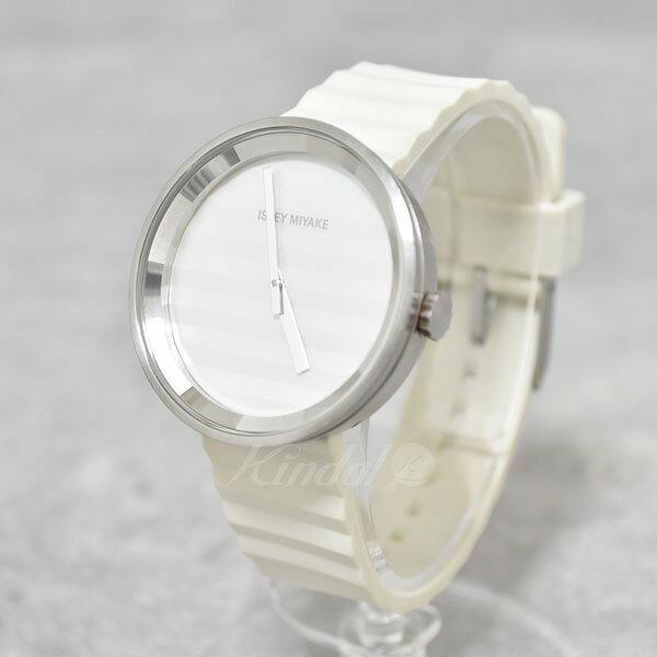 【中古】ISSEY MIYAKE PLEASE ジャスパーモリソン コラボ 腕時計 ホワイト 【送料無料】 【080218】(イッセイミヤケ)