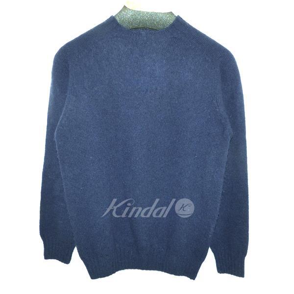 【中古】John Tulloch クルーネックセーター ネイビー サイズ:38 【080218】(ジョンタロック)