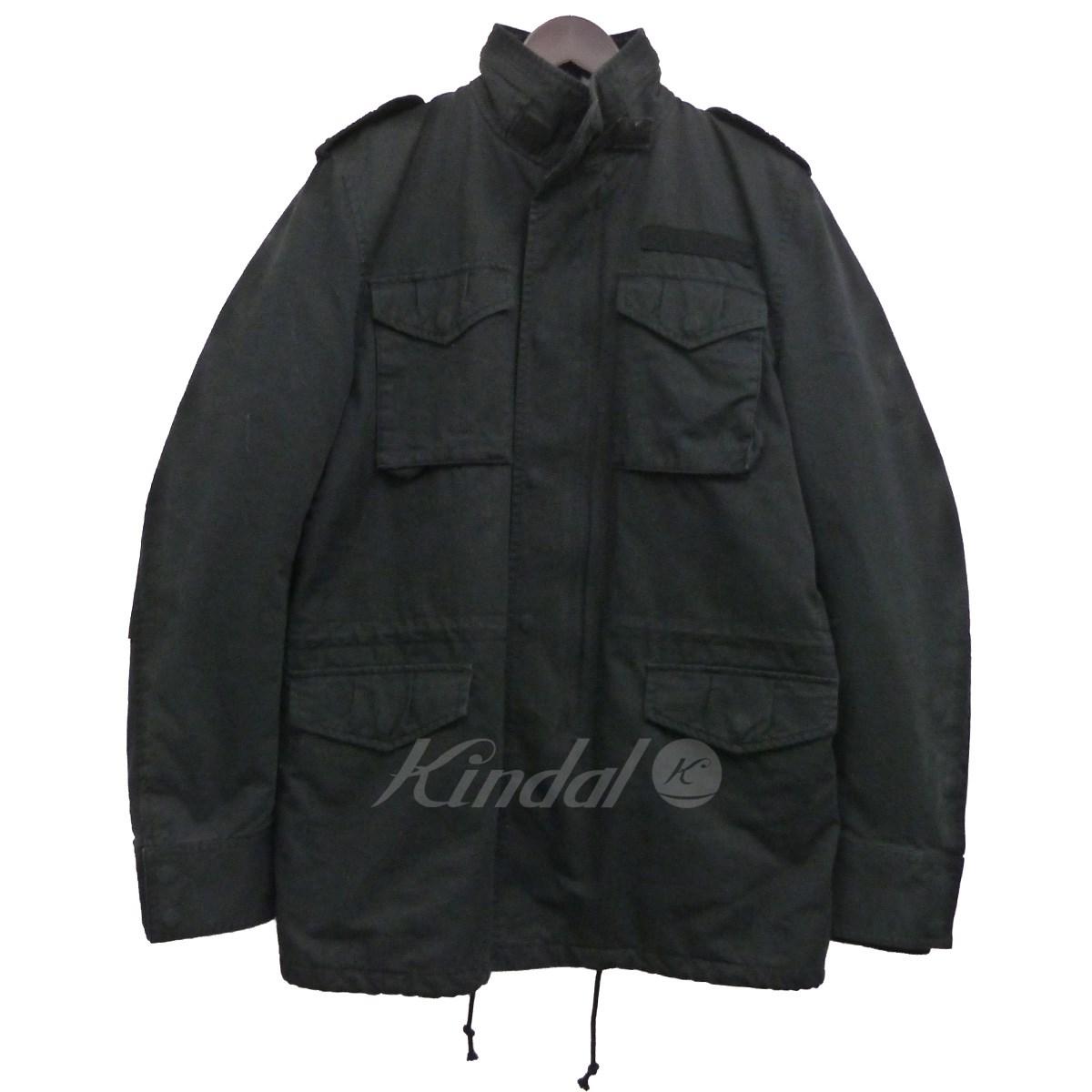 【中古】ACANTHUS 12AWダウンライナーM-65 ブラック サイズ:L 【送料無料】 【080218】(アカンサス)