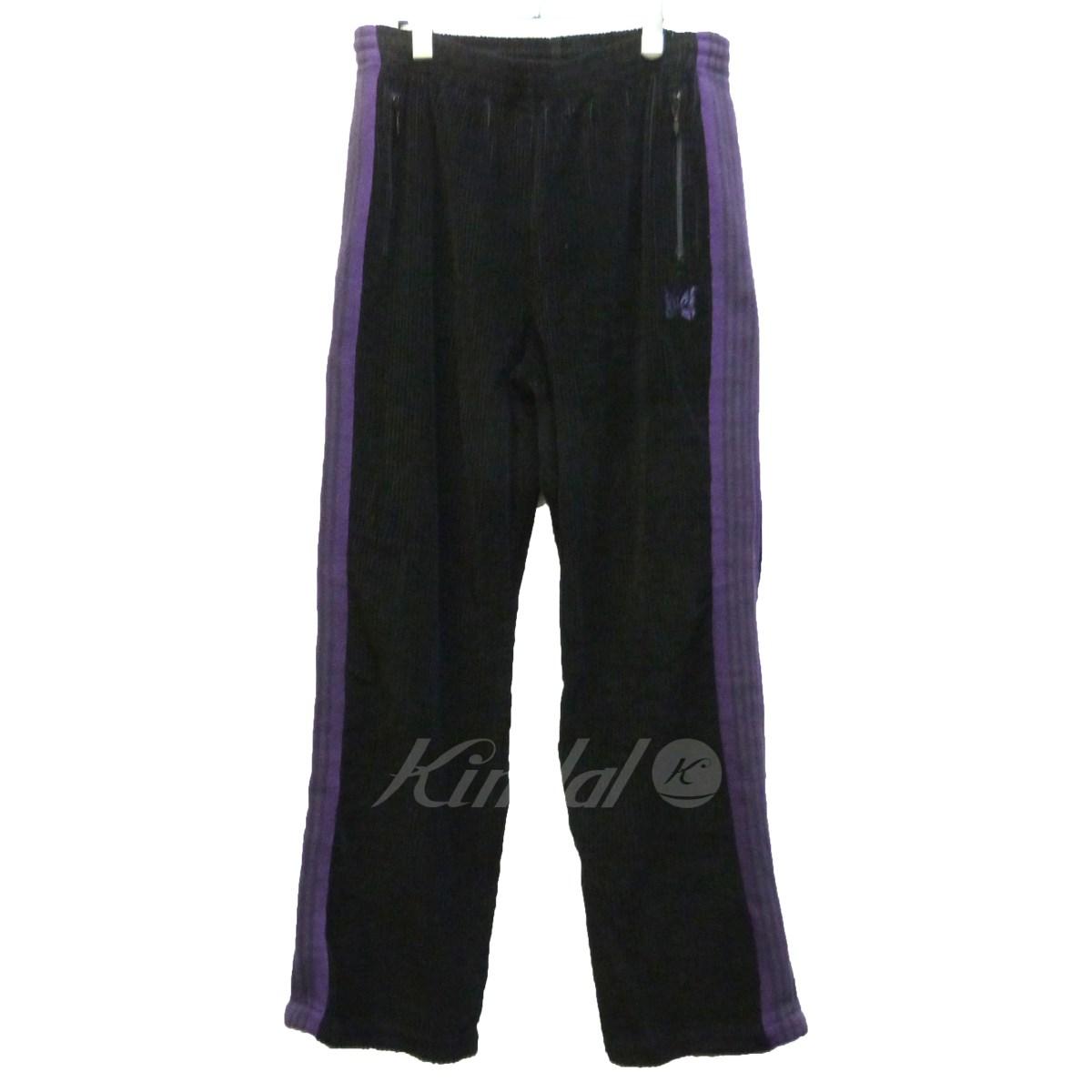 【中古】Needles FREA'KS STORE別注 17AW 「Track Pants 6W Corduroy」 ブラック×パープル サイズ:M 【送料無料】 【080218】(ニードルス)