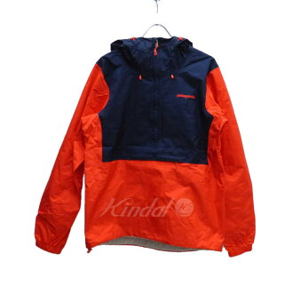 patagonia TORRENTSHELL PULL OVER 2015 S/S레드×네이비 사이즈:S (Patagonia)