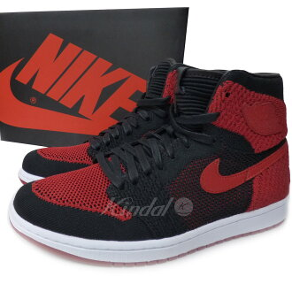 f947ed71578 NIKE AIR JORDAN 1 RETRO HIGH FLYKNIT BANNED Jordan 1 バーンド red black size:  26. 5cm (Nike)