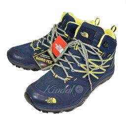 [中古]THE NORTH FACE Hedgehog Fastpack Lite MID GTX山間途步鞋NF01524深藍×灰色×黄色尺寸:US 10[郵費免費][060618](zanosufe..