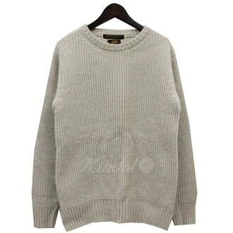 PHIGVEL Angola blend low gauge knit sweater beige size: 2 (Figg bell)