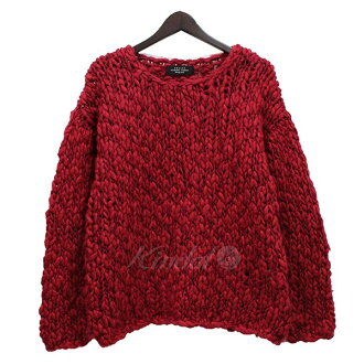 UNUSED low gauge knit knit sweater red size: 1 (アンユーズド)